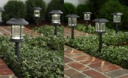 Solar Black or Gray LED 10 Lumens Path Light (5-Pack) just $12.88 (Reg. $19.88) at Home Depot