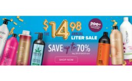 Beauty Brands Annual Liter Sale $14.98 (Reg. Up to $49.99) Biolage, Hempz, Kenra, & More