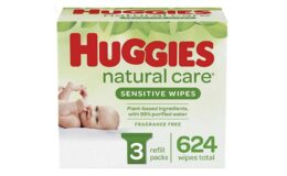 Great Price + Coupon! HUGGIES Natural Care Sensitive Baby Wipes, 3 Packs, 624 Total Wipes {Amazon}