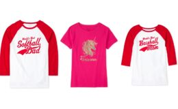 Adult Matching Family Graphic Tees (Baseball Dad, Softball Mom, & More) $2-$3 + Free Shipping at the Children's Place!