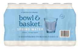 ShopRite Shoppers -$1.66 Bowl & Basket Spring Water 24pks