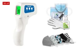 Health and Safety Essentials + Coupon + Free Shipping at Staples! No Contact Thermometer $34.99 (reg.$79.99)