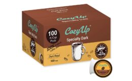 Super Price! CozyUp 100-Count Specialty Dark Roast Blend Coffee Pods K-Cups, Dark Roast {Amazon}