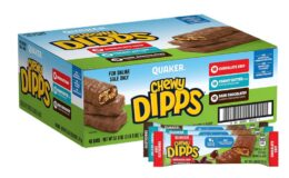 Great Price! 25% Off Coupon Quaker Chewy Dipps Chocolatey Covered Granola Bars, Variety Pack, 48 Bars