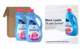 Nice Price + Coupon! Downy Ultra Plus Liquid Fabric Softener, Concentrated, 51 oz Bottles, 2 Pack, 152 Loads Total