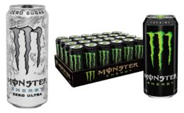 Great Price + Coupon! Monster Energy Zero Sugar or Regular 16 Ounce (Pack of 24)