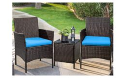 Walnew 3 PCS Outdoor Patio Furniture PE Rattan Wicker Set only $126.65 Delivered (reg.$215.99) at Walmart