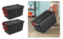 Sterilite 40 Gal. Wheeled Industrial Tote Black Case of 2 $39.99 Shipped