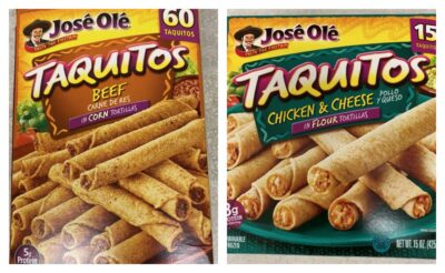 Jose Ole Taquitos Recalled Due to Possible Foreign Matter Contamination & more