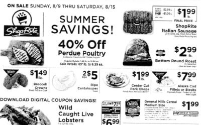 ShopRite Preview Ad for the week of 8/9/20