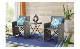 Montrose 3-Piece Folding Wave Outdoor Patio Glass Bistro Set only $199.20 Shipped (reg. $249) at Home Depot!