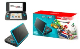 New Nintendo 2DS XL System w/ Mario Kart 7 Pre-installed, Black & Turquoise only $99.99 Shipped at Walmart