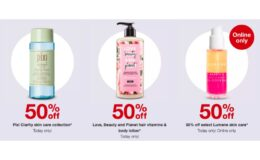 Today Only! 50% Off Pixi Clarity Skin Care, Love, Beauty and Planet, or Lumene Skincare + $10 Gift Card at Target