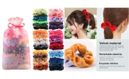56% Off 60 Pcs Premium Velvet Hair Scrunchies Hair Bands