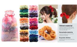 56% Off 60 Pcs Premium Velvet Hair Scrunchies Hair Bands