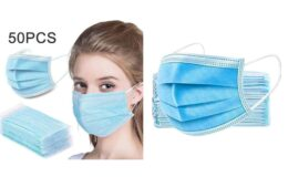 Great Price! Disposable Face Masks 50 PCS 3-Ply Breathable & Comfortable Filter