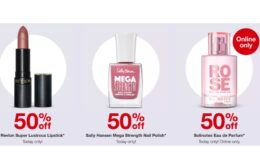 Today Only! 50% Off Revlon Lipstick, Sally Hansen Nail Polish, or Solinotes Parfum + $10 Gift Card at Target