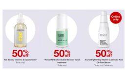 Today Only! 50% Off Select Beauty Items + $10 Gift Card at Target