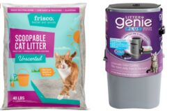 Hot Price at Chewy! 40lbs Frisco Cat Litter + Litter Genie Plus Litter Disposal System just $15.44 Shipped