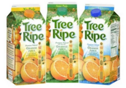 Tree Ripe Orange &  Apple Juice Just $0.99 at ShopRite!