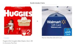 Buy 2 Huggies Little Movers Diapers Economy Packs get a Free $30 Gift Card at Walmart!