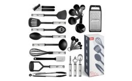 Huge Extra Savings! Kitchen Utensil Set 24 Nylon and Stainless Steel Utensil Set {Amazon}