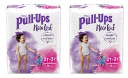 Huggies New Leaf Pull-Ups Jumbo Packs, $2.97 at Walmart {Ibotta Rebate}
