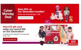 $10 Gift Card with $40 Purchase off Our Generation Dolls and Accessories + 25% Off Bundles