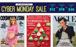 Cyber Monday Magazine Sale - Pick 3 for $12, 5 for $18, or 10 for $30