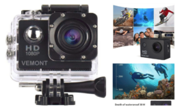 Great Price + Coupon! Waterproof Vemont Action Camera 1080P 12MP {Amazon}