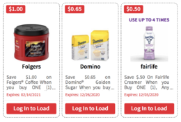 Over $151 in New ShopRite eCoupons - Save on Folgers, Domino, Fairlife & More!