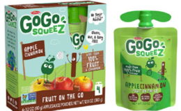 Great Price! GoGo squeeZ Applesauce, Apple Cinnamon, 3.2 Ounce (48 Pouches)