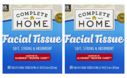 Complete Home Facial Tissue, $0.99 at Walgreens!