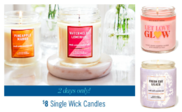 Two Days Only! Bath & Body Works Single Wick Candles $8 Each (Reg. $14.50)