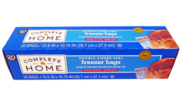 B1G2 FREE - $0.93 Complete Home Sandwich, Storage, or Freezer Bags at Walgreens! {No Coupons Needed}