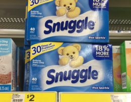 New $5/$25 Dollar General Coupon - FREE Snuggle Fabric Softener Sheets + More! {1/16 Only}