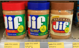 Save $0.50 on Jif Peanut Butter | $1.50 at Walgreens & More