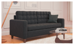 Mayview Upholstered Square Arm Sofa with Buttonless Tufting only $299 (Reg. $436.99) + Free Delivery at Walmart!