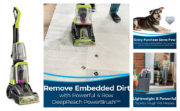 BISSELL TurboClean PowerBrush Pet Carpet Cleaner only $79.99 + $10 Kohl's Cash + Free Shipping (Reg. $129.99)