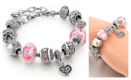 Pink Austrian Crystal and Heart Charm Bracelet Only $10.99 + Free Shipping at Jane.com (reg. $104.99)