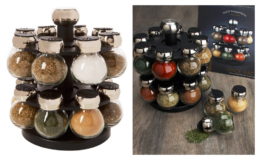 50% off Olde Thompson 16-Jar Labeled & Filled Orbit Spice Rack Jars & Rack {Amazon}