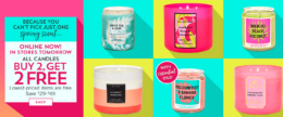 Today Only Online! Bath & Body Works All Candles B2G2 Free