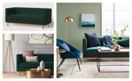 Project 62 Cologne Tufted Track Arm Sofa in Emerald Green only $350 + Free Shipping (reg. $650) at Target!