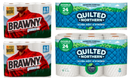 Brawny  Paper Towels 6pk & Quilted Northern 12pk Double Rolls or 6pk Mega Roll Just $4.49 at ShopRite!