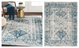 "Bonney Oriental Sky Blue/Light Gray/White/Navy 3'11""x5'7"" Area Rug only $48.99 Shipped (reg. $126) at Wayfair"