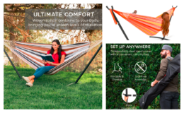 Best Choice Products 2-Person Brazilian-Style Double Hammock w/ Carrying Bag and Steel Stand just $89.99 Shipped (reg. $119.99)