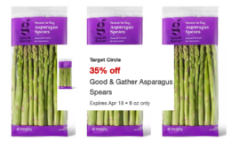 Good & Gather Asparagus Spears just $2.20 at Target | 35% off Target Circle