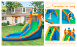 Inflatable Kids Bounce Slide Water Park With Blower only $389.99 Shipped (reg. $1047) at Wayfair