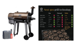 25% Off Z GRILLS  Wood Pellet Grill & Smoker 6 in 1 BBQ Grill Auto Temperature Control, 450 Sq