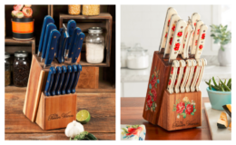 Walmart Deals for Days   The Pioneer Woman Frontier Collection 14-Piece Cutlery Set with Wood Block just $39 + Free Shipping {Reg: $69.97}